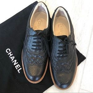 Chanel Quilted Leather Oxford Shoes (Women's)